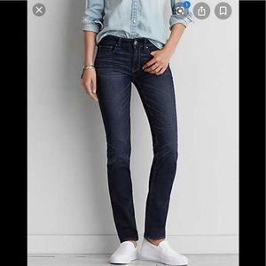 AEO straight jeans; short